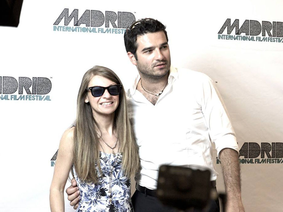 With Brunella Filì (director) on the carpet, first day